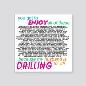 "drilling4u WHT Square Sticker 3"" x 3"""