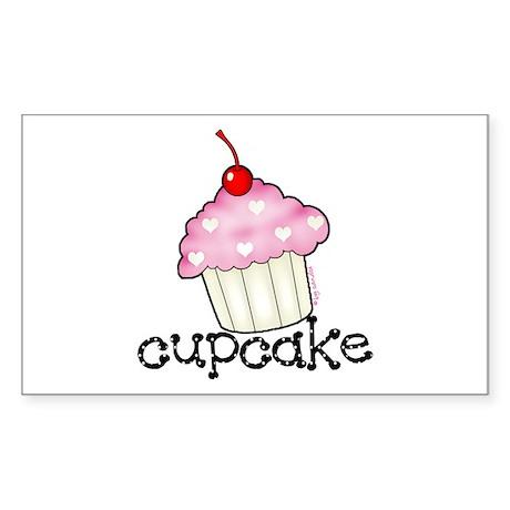 Big Cupcake Rectangle Sticker
