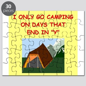 funny camp camper camping joke Puzzle