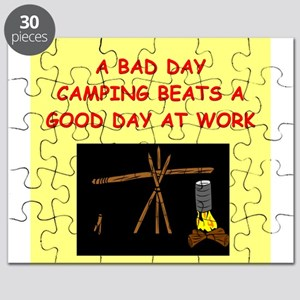funny camp camping camper joke Puzzle