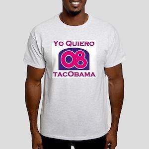 Yo Quiero TacObama Ash Grey T-Shirt
