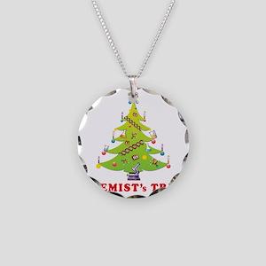 Chemist Christmas Tree! Necklace Circle Charm