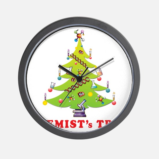 Chemist Christmas Tree! Wall Clock
