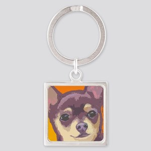 chihua cafe Square Keychain