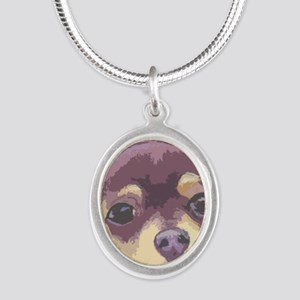 chihua cafe Silver Oval Necklace