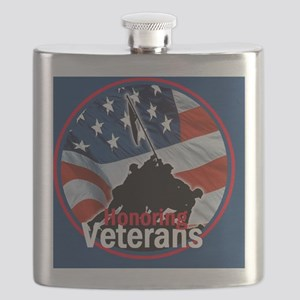 Honoring Veterans Flask