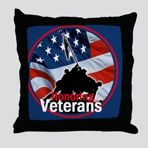 Honoring Veterans Throw Pillow