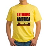 Extruding America Yellow T-Shirt