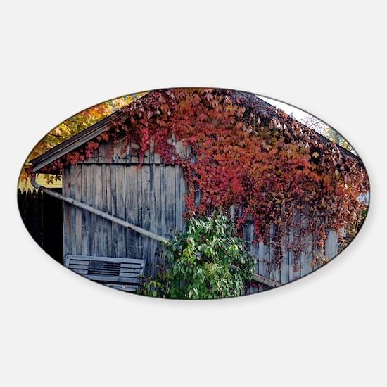 old_barn_sticker Sticker (Oval)
