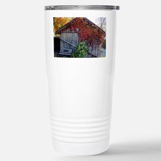 old_barn_sticker Stainless Steel Travel Mug