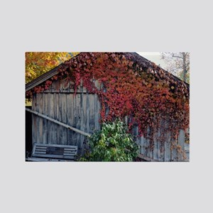 old_barn_Lg_framed Rectangle Magnet