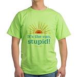 Global Warming Sun Green T-Shirt