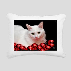 xmas_cat_card Rectangular Canvas Pillow