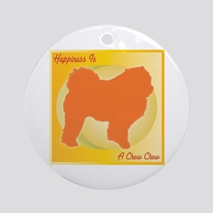 Chow Happiness Ornament (Round)