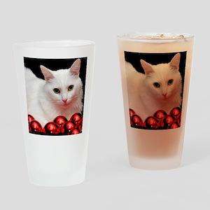 xmas_cat_rnd Drinking Glass
