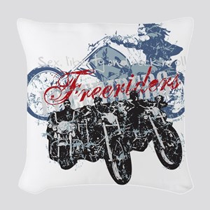 freeriders Woven Throw Pillow