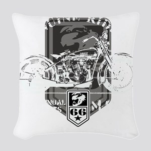 geniune rider(blk) Woven Throw Pillow