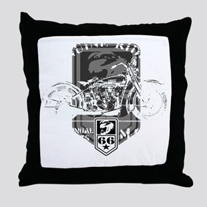 geniune rider(blk) Throw Pillow