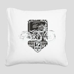 geniune rider(blk) Square Canvas Pillow