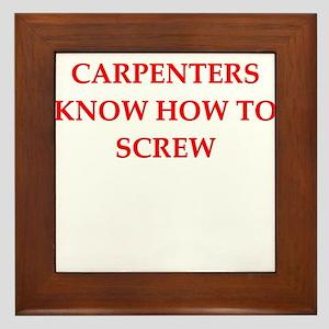 funny jokes carpenters carpentry Framed Tile