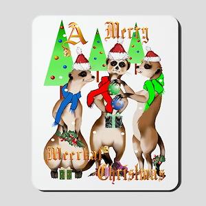 Merry Meerkat Christmas Trans Mousepad