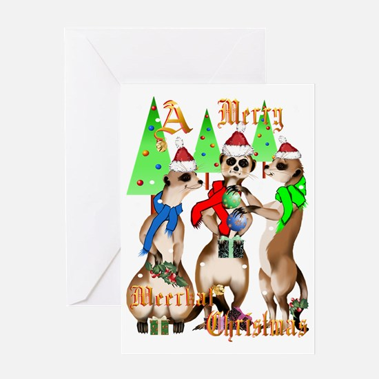 Merry Meerkat Christmas Trans Greeting Card