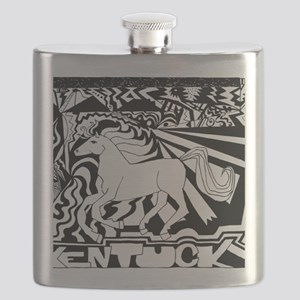Abstract Kentucky Horse Flask