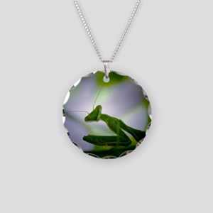 Preying mantis Necklace Circle Charm