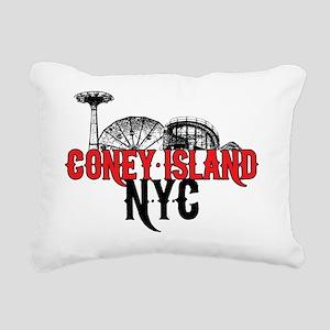 coney_island-nyc-mid Rectangular Canvas Pillow