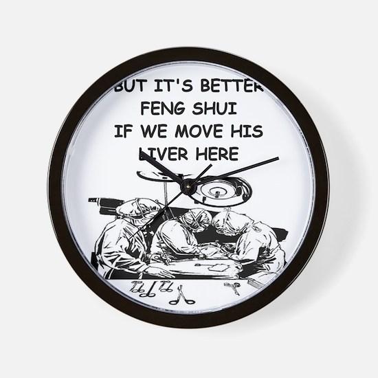 funny doctor joke Wall Clock