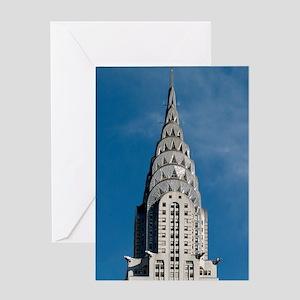 Chrysler Building spire Greeting Card
