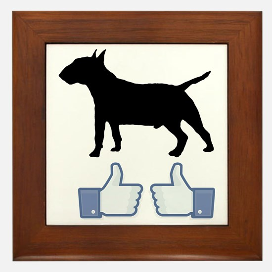 2-Miniature-Bull-Terrier07 Framed Tile