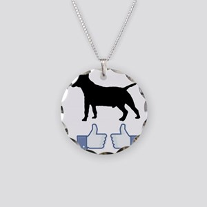 2-Miniature-Bull-Terrier07 Necklace Circle Charm