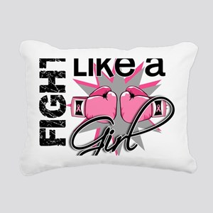 - Fight Like a Girl Brea Rectangular Canvas Pillow