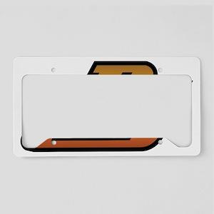 dj brown License Plate Holder