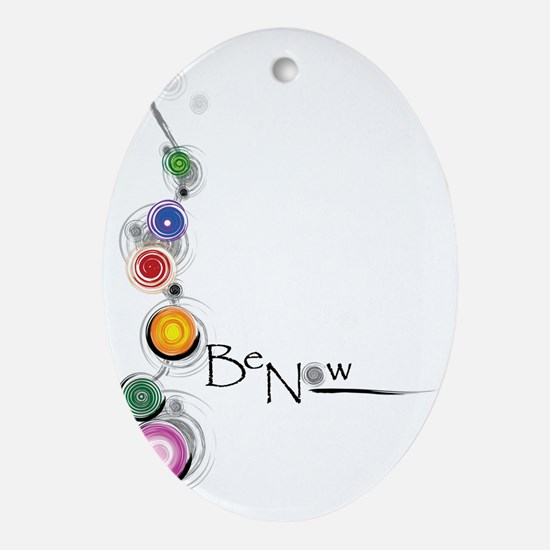 Be Now Chakras for white Oval Ornament