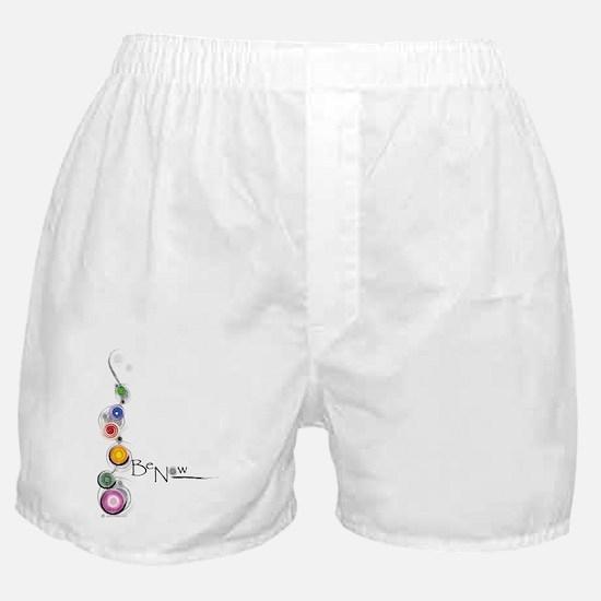 Be Now Chakras for white Boxer Shorts