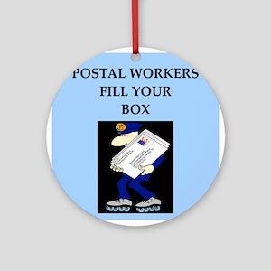 funny jokes mailman mailmen Ornament (Round)