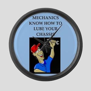 funny joke mechanics Large Wall Clock