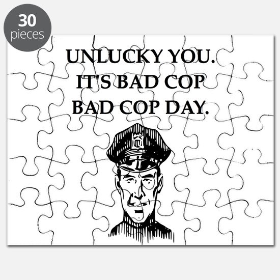 good cop bad cop poliice joke gifts apparel Puzzle