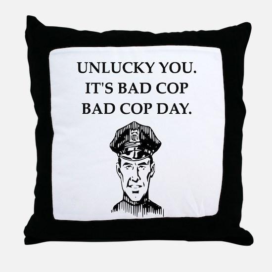 good cop bad cop poliice joke gifts apparel Throw