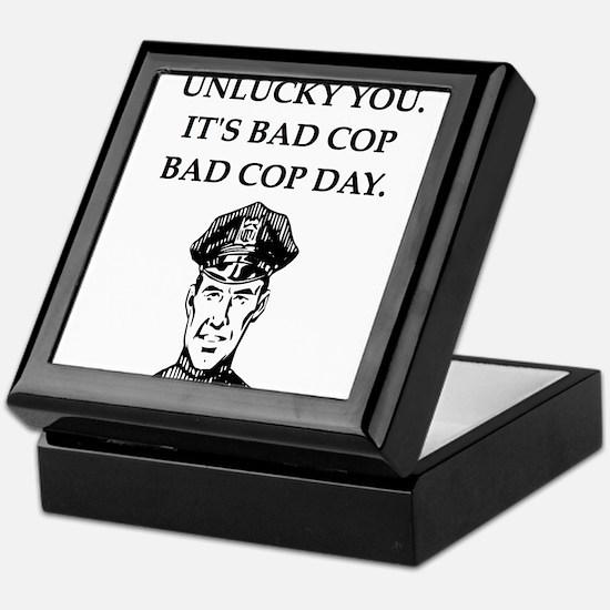 good cop bad cop poliice joke gifts apparel Keepsa