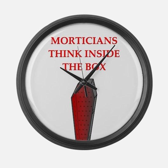 funny joke undertakers morticians Large Wall Clock