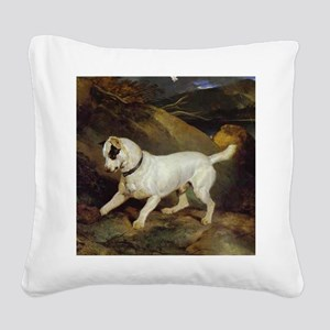 jack russell Jocko Square Canvas Pillow