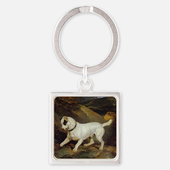 jack russell Jocko Square Keychain