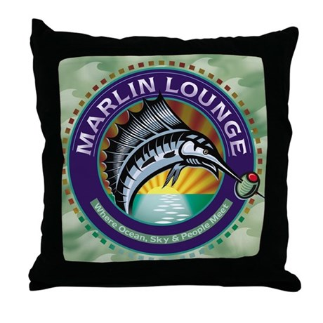 Marlin Lounge Throw Pillow
