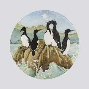 cormorant1SQUARE Round Ornament