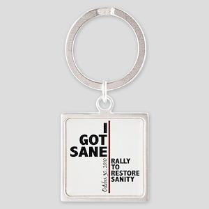 I got sane Square Keychain
