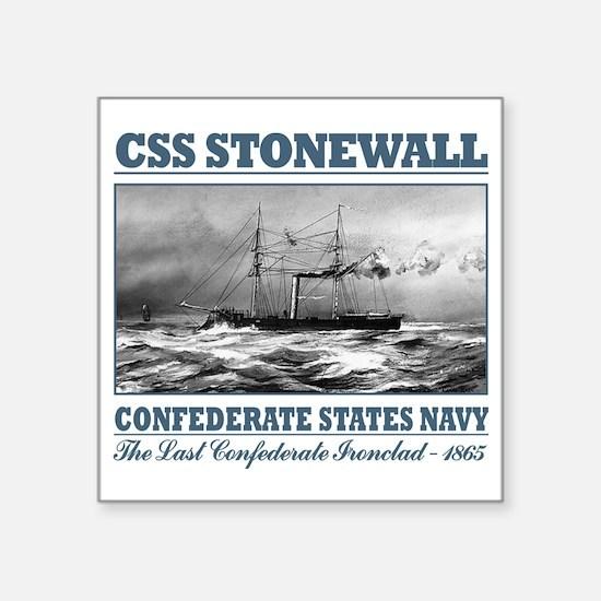 "CSS Stonewall Square Sticker 3"" x 3"""