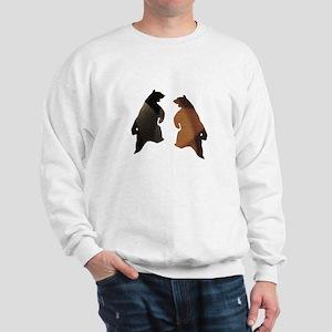 BROWN & BLACK DANCING BEAR 3 Sweatshirt